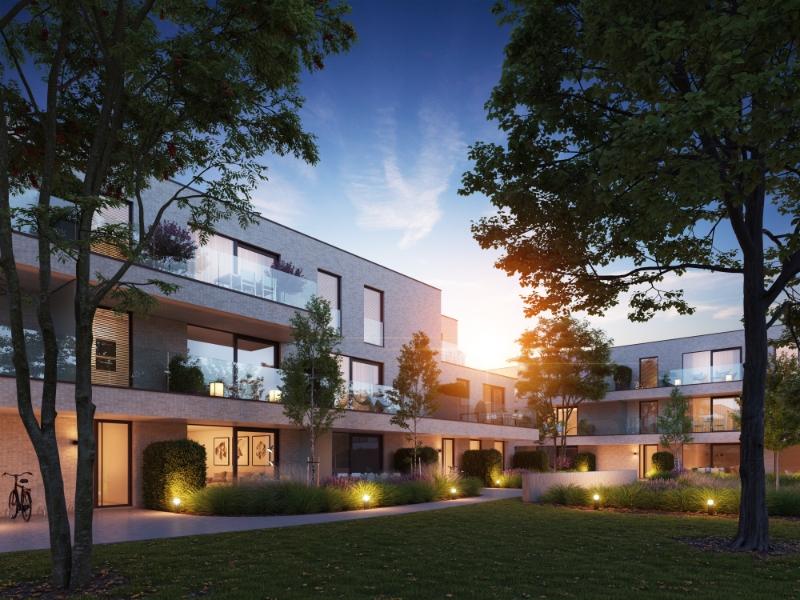 Nieuwbouwapaprtement met centrale tuin in hartje Bosmolens.