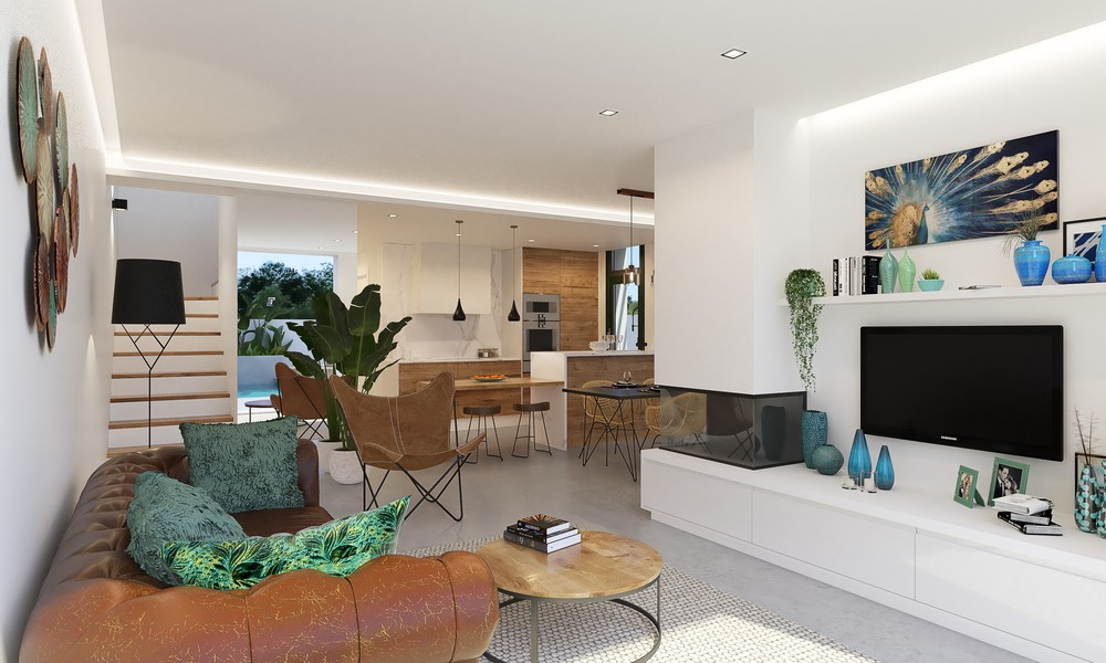 Nieuwbouw, moderne vrijstaande en halfvrijstaande villa's in Daya Nueva