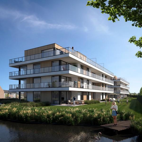 Nieuwbouwproject bestaande uit 15 moderne appartementen te Gullegem (FASE I).