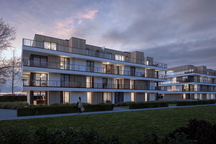 Gelijkvloers nieuwbouwappartement in rustige woonwijk te Gullegem.