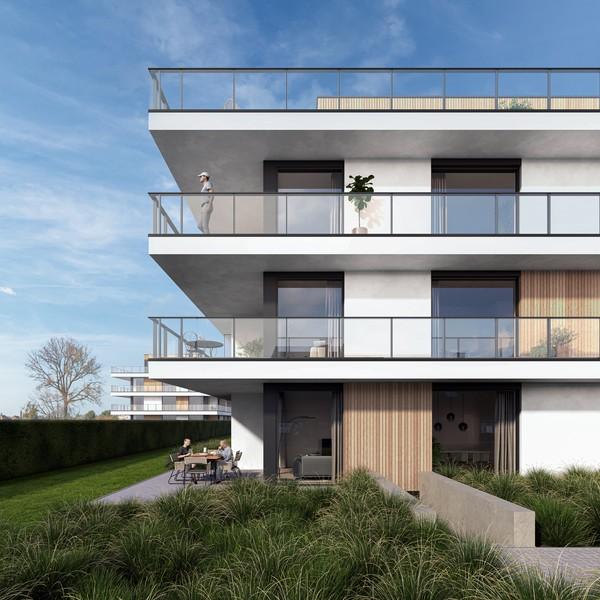 Luxueus afgewerkt nieuwbouwappartement te Gullegem.