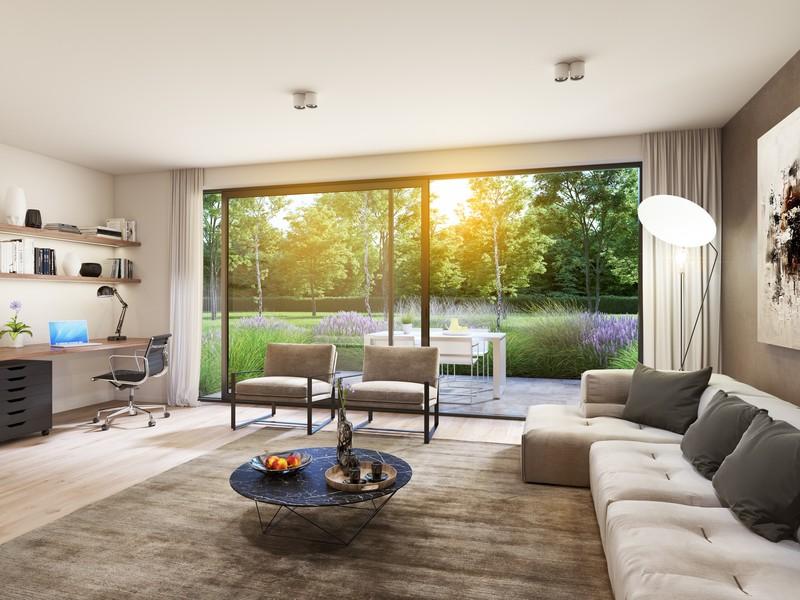 Gelijkvloers nieuwbouwappartement met luxe afwerking te Bosmolens.